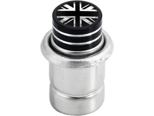 Cigarette lighter English Flag UK England British Union Jack short black  chrome
