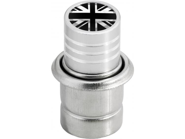 Cigarette lighter English UK England British Union Jack black & chrome