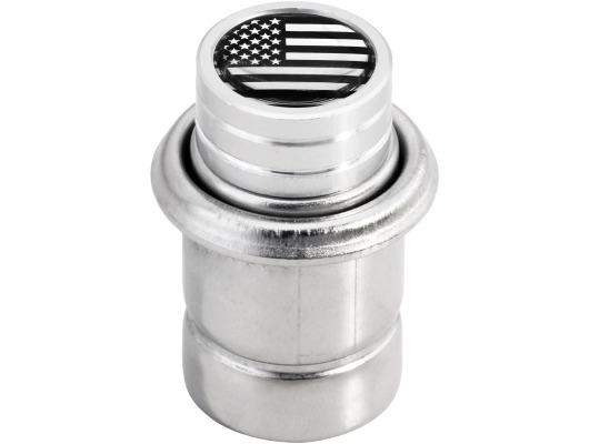 Cigarette lighter USA United States of America short chrome
