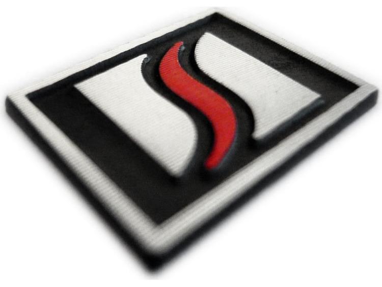Logo Luxyline pour le volant en aluminium
