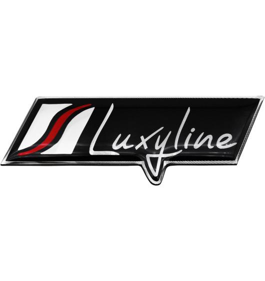 Plaquette Luxyline en aluminium logo/badge/sigle