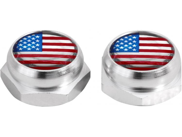 Rivet-Covers for Licence Plate USA United States of America (silver)