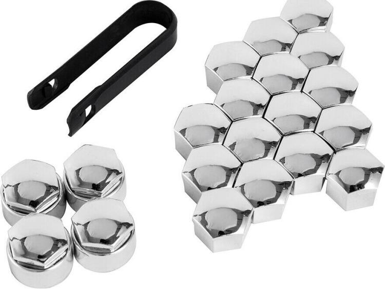 Tapa-tornillos de rueda antirrobo 17mm cromo