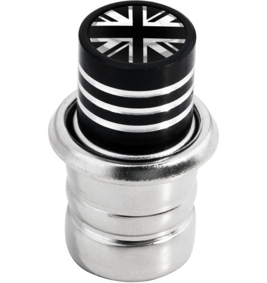 Zigarettenanzünder England-Fahne Vereinigtes Königreich Englisch British schwarz & chromfarbig
